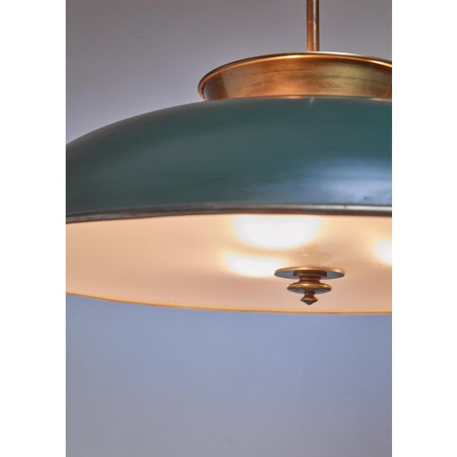 Large Swedish brass pendant lamp by Harald Notini, 1930s - Image 4 of 6