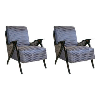 Mid-Century Modern Upholstered Armchairs - A Pair