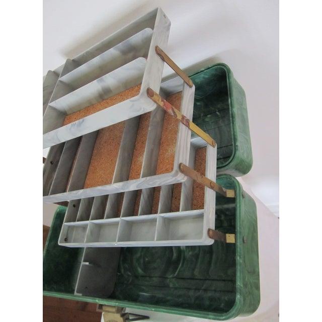Green Marbleized Malachite Style Storage Box - Image 8 of 8