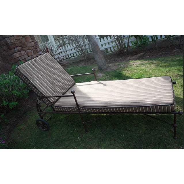 Brown Outdoor Chaise Lounges - A Pair - Image 3 of 8