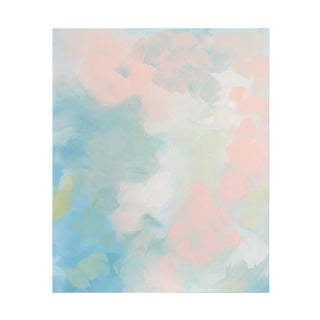 Abstract Pastel Painting - Peach Pair No.2