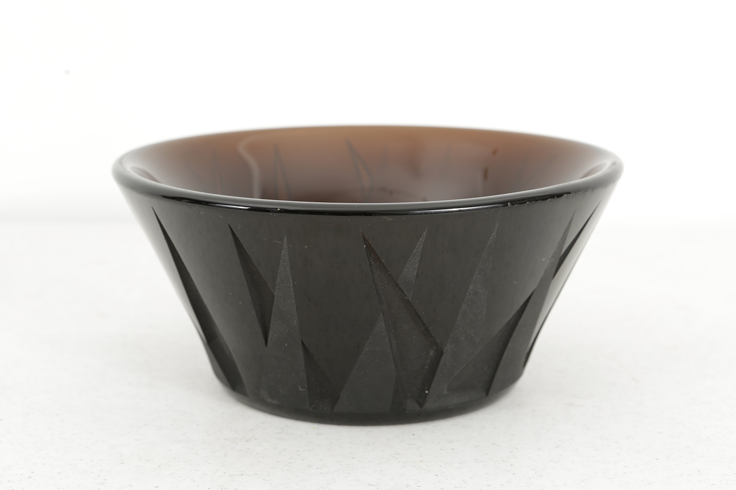 deco glass bowl chairish