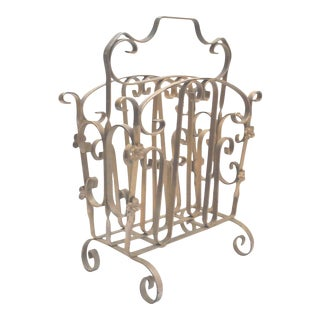 Vintage Iron Magazine Rack
