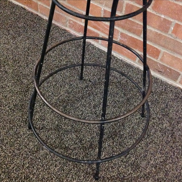 Mid-Century Modern Wrought Iron Stool - Image 6 of 10