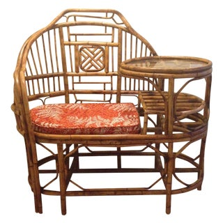 Unique Rattan Bench With Table