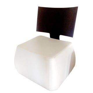 Ligne Roset Tazia White Leather Chair