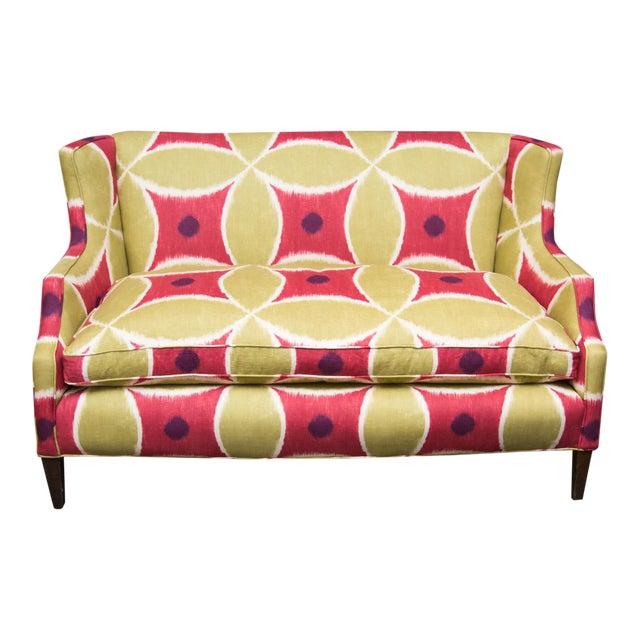 Custom Upholstered Down-Filled Loveseat - Image 1 of 9