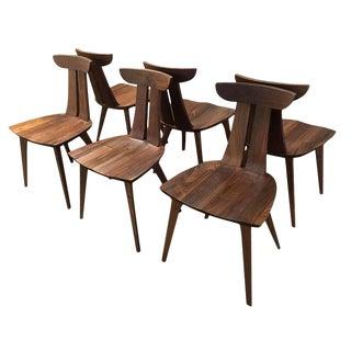 6 NEW Walnut Copeland Estelle Chairs
