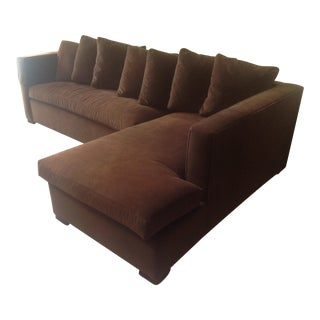 Thomas O'Brien for Hickory Chair Chocolate Brown Chaise Sectional