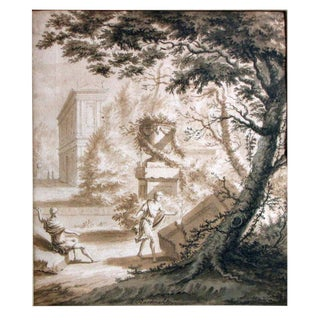 PAIR OF DUTCH OLD MASTER DRAWINGS BY ABRAHAM RADEMAKER