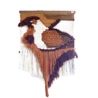 1970s Woven Bird Tapestry by Ted Morris