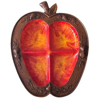 Treasure Craft Pottery Apple Platter