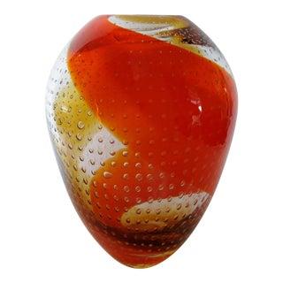 Swirl Design Art Glass Vase