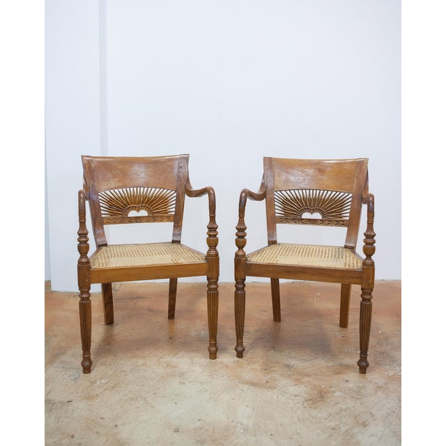 Vintage Teak & Cane Chairs - A Pair - Image 2 of 9