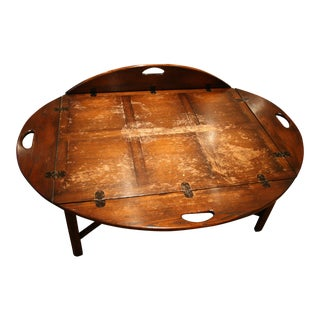 American Antique Style Butler's Tray Coffee Table