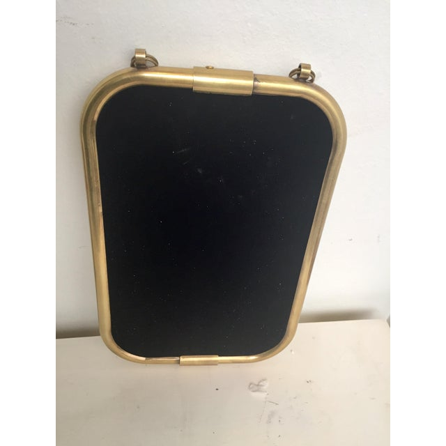 Image of Art Deco Brass Mirror