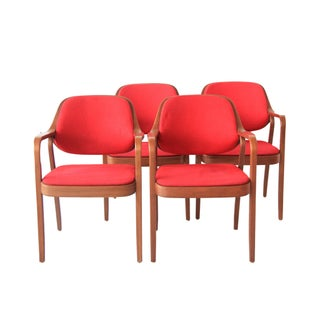 Knoll Arm Chairs by Don Pettit - Set of 4