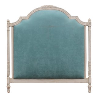 Vintage Upholstered Louis XVI Headboard