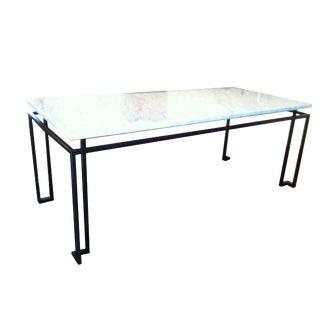 Line Custom Steel & Marble Dining Table