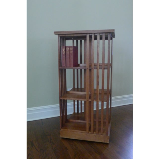 Stickley Mission Cherry Revolving Bookcase - Image 3 of 5