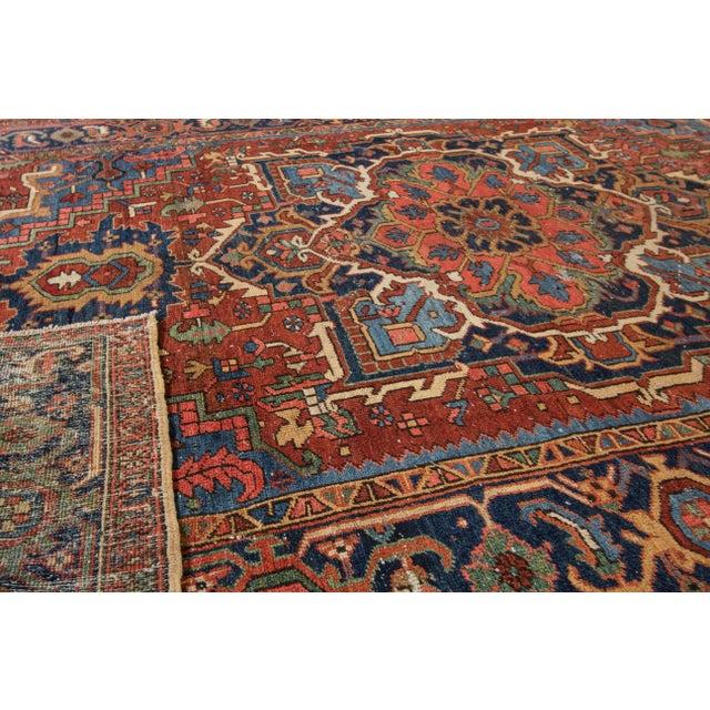 "Apadana Antique Persian Heriz Rug - 7'3"" X 9'10"" - Image 3 of 7"