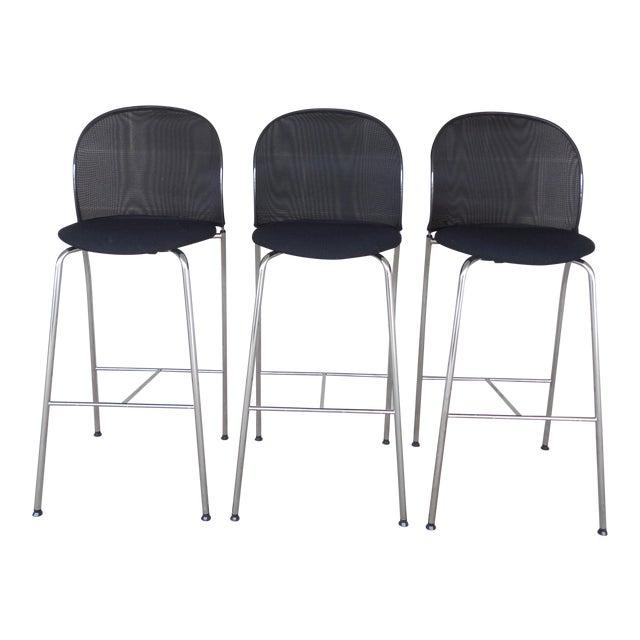 Christoph Hindermann Design for Davis Furniture Modern Bar Stools - Set of 3 - Image 1 of 10