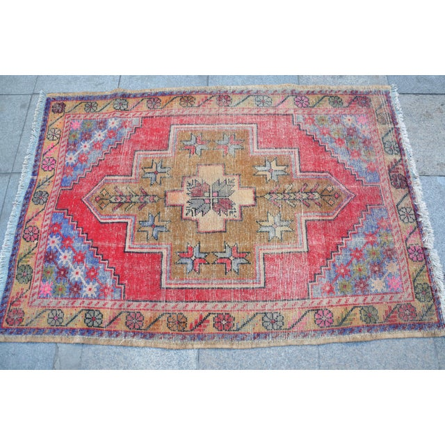 "Turkish Anatolian Oushak Carpet - 41"" x 53"" - Image 4 of 6"