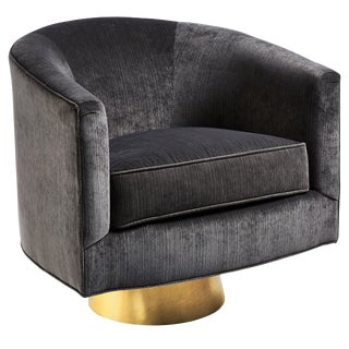 Taylor Burke Home Velvet Swivel Chair