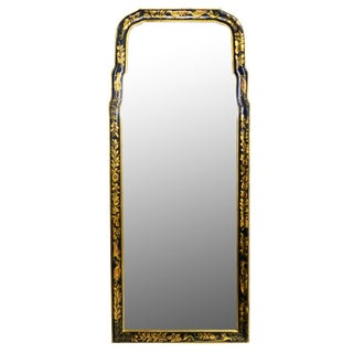 Black & Gilt-Painted Wall Mirror