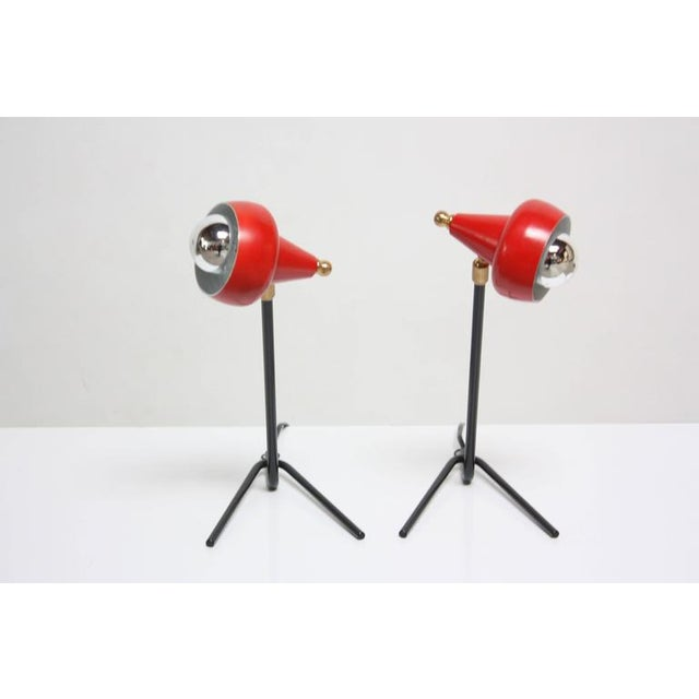 Image of Pair of Petite Italian Table Lamps or Wall Sconces