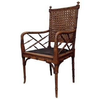 Antique Italian Cane Armchair