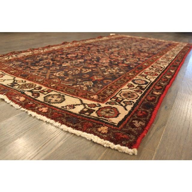 """Vintage Persian Wool Rug - 3'2"""" X 6'5"""" - Image 3 of 4"""