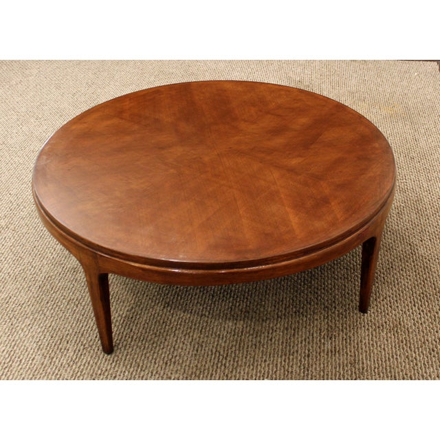 Lane Blonde Coffee Table: Lane Mid-Century Danish Walnut Coffee Table
