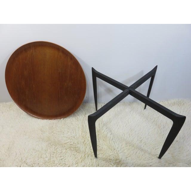 Image of 1950's Fritz Hansen Danish Teak Tray Side Table