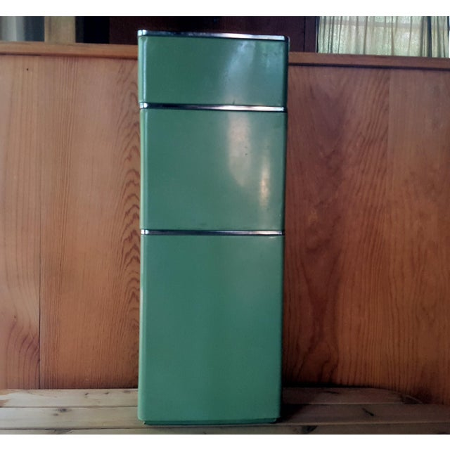 Vintage Avocado Green Kitchen Canister - Set of 3 - Image 6 of 7