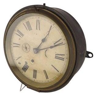 Antique Ship's Bulkhead Clock