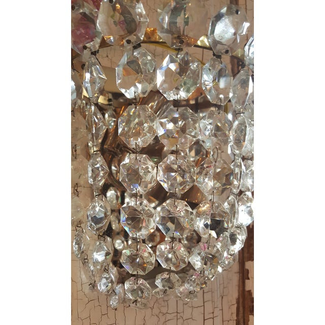 Vintage Waterfall Crystal Sconces - A Pair - Image 3 of 5