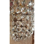 Image of Vintage Waterfall Crystal Sconces - A Pair