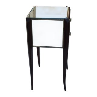 French Mirrored End Table