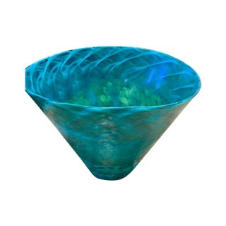 Crate & Barrel Italian Blown Glass Vase