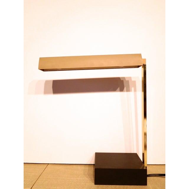 Image of Lightolier Mid Century Brass Modern Task Lamp