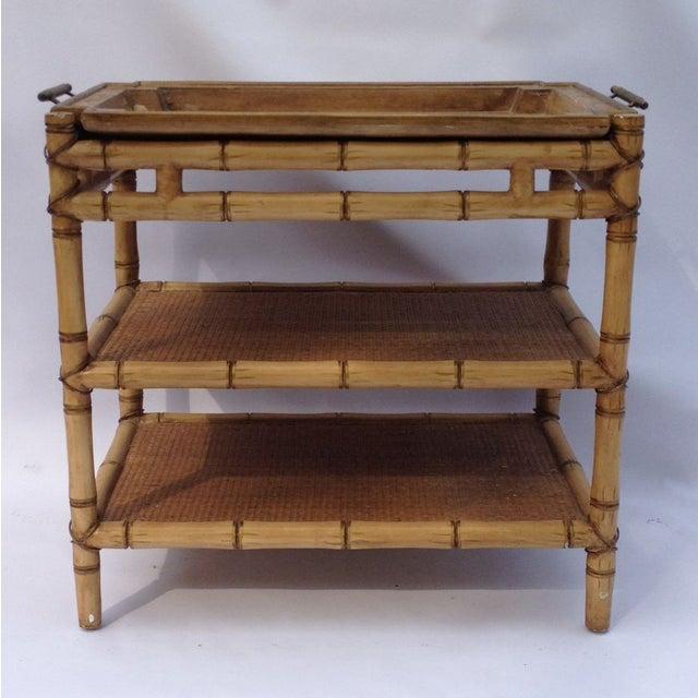 Chinoiserie Bamboo Bar Cart Chairish