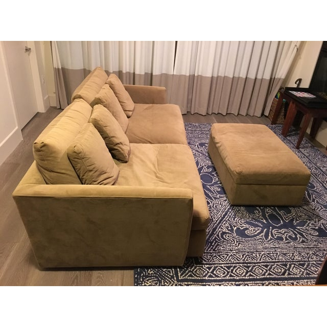 Crate & Barrel Lounge Collection - Sofa and Ottoman - Image 2 of 4
