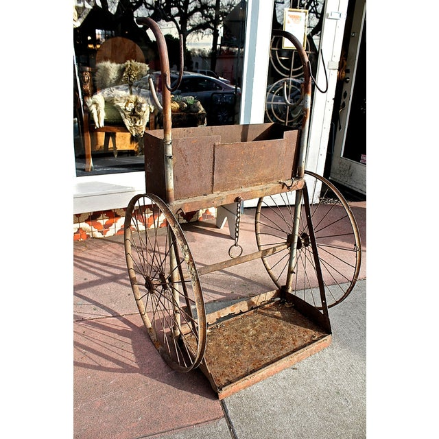 1930s Rusty Iron Welded Bar Cart - Image 5 of 7