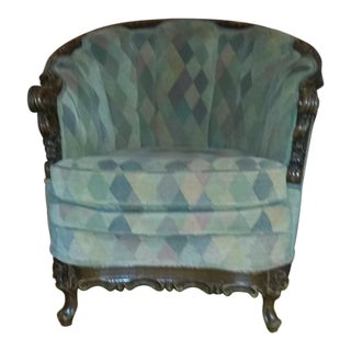 Vintage Custom Upholstered Round Chair