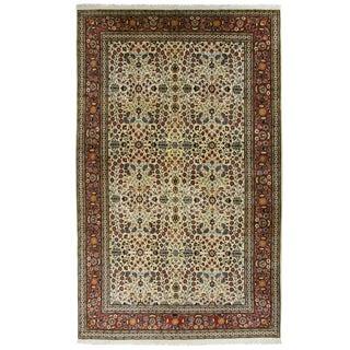 Floral Hereke Carpet   5'11 x 9'10