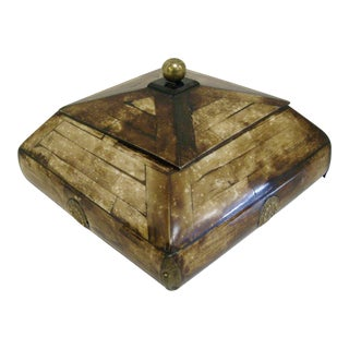 Vintage Tessellated Natural Horn Box