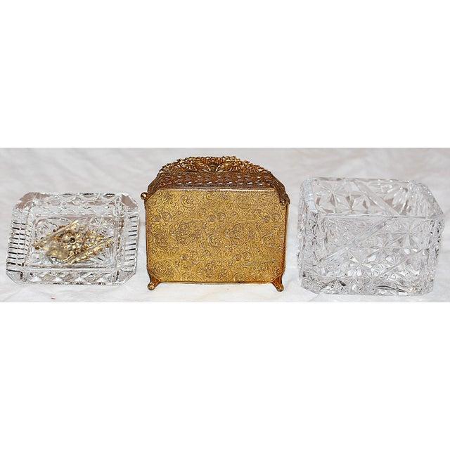 Hollywood Regency Glass Vanity Box - Image 7 of 7