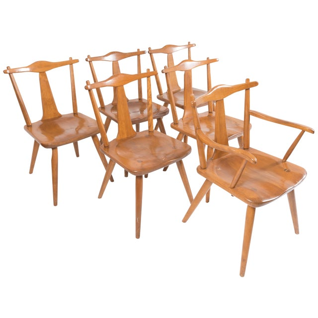 Cushman Mid-Century Colonial Dining Chairs - Set of 6 - Image 1 of 11