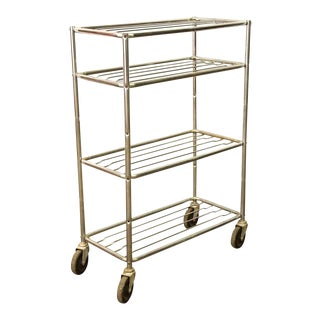 Metal Wheeled Cart with 4 Shelves